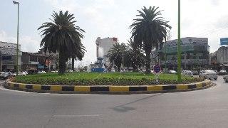 میدان آزادی در مرکز شهر نوشهر